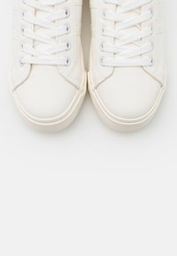Dorothy Perkins Wide Fit - WIDE FIT INDEED STRIPE DETAIL LACE UP SPORT - Sneakers basse - white - 5