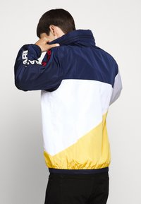 Polo Ralph Lauren - PACE FULL ZIP JACKET - Summer jacket - newport navy/yellow - 5