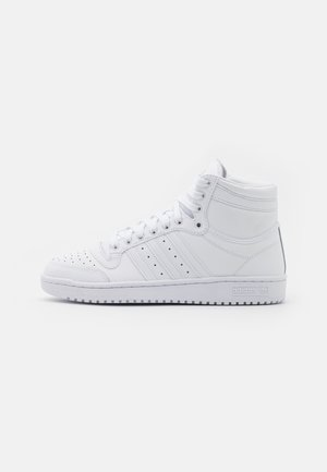 TOP TEN - Sneakers high - footwear white/clear white