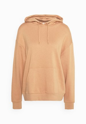 BASIC OVERSIZED HOODIE WITH POCKET - Hoodie - light tan