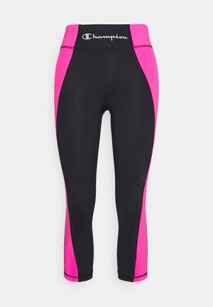 CAPRI LEGGINGS - Urheilucaprit - black/pink
