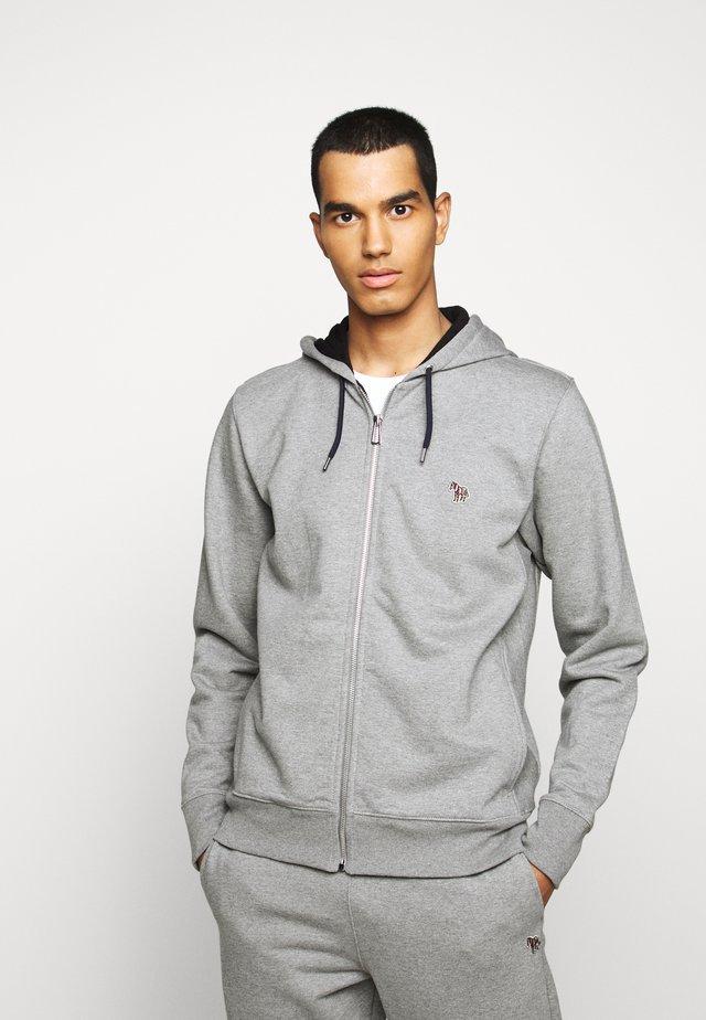 MENS ZIP HOODY - Huvtröja med dragkedja - mottled grey