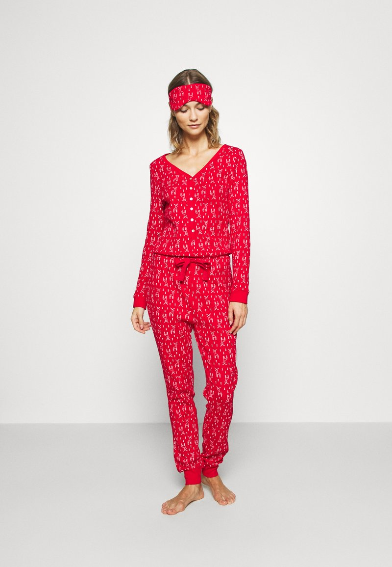 Anna Field - SET - Pyžamo - red