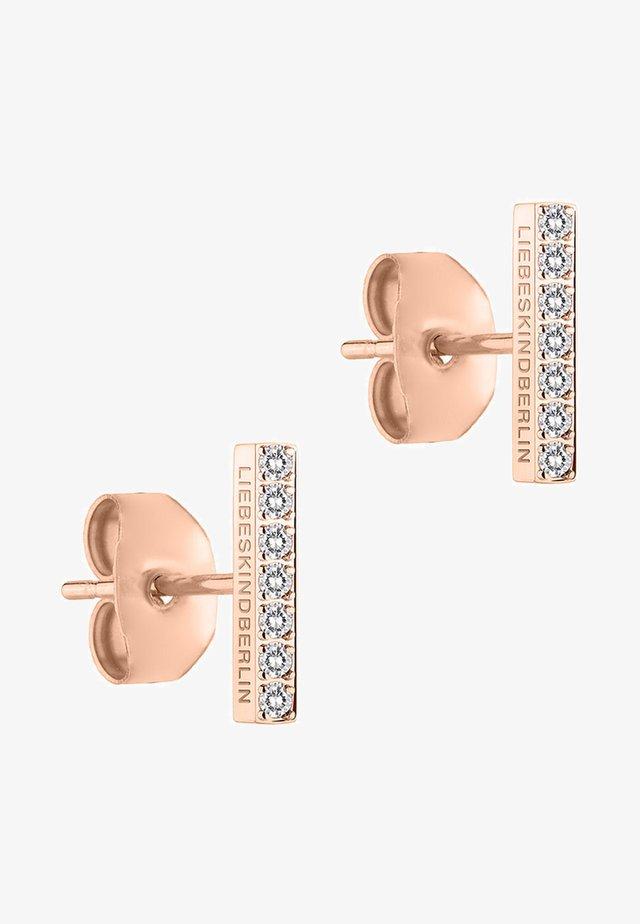 Boucles d'oreilles - rose gold-coloured