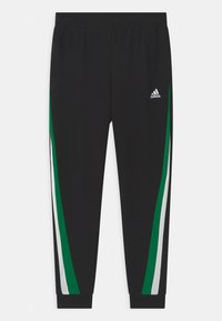 adidas Performance - SET UNISEX - Tracksuit - black/core green/white - 2