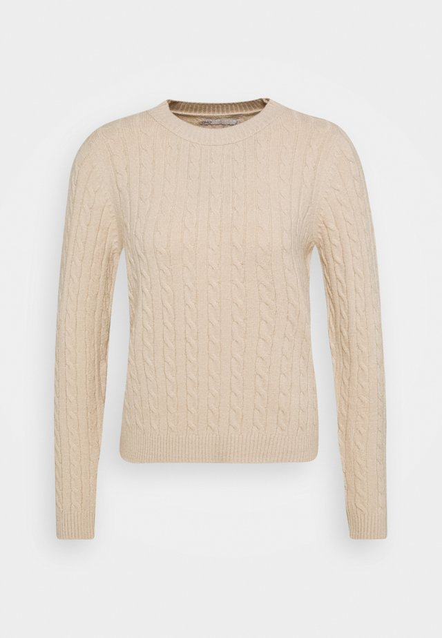 ONLMEGAN CABLE - Pullover - pumice stone