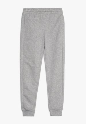 YOUNG GIRLS ESSENTIALS LINEAR SPORT PANTS - Tracksuit bottoms - medium grey heather/real pink