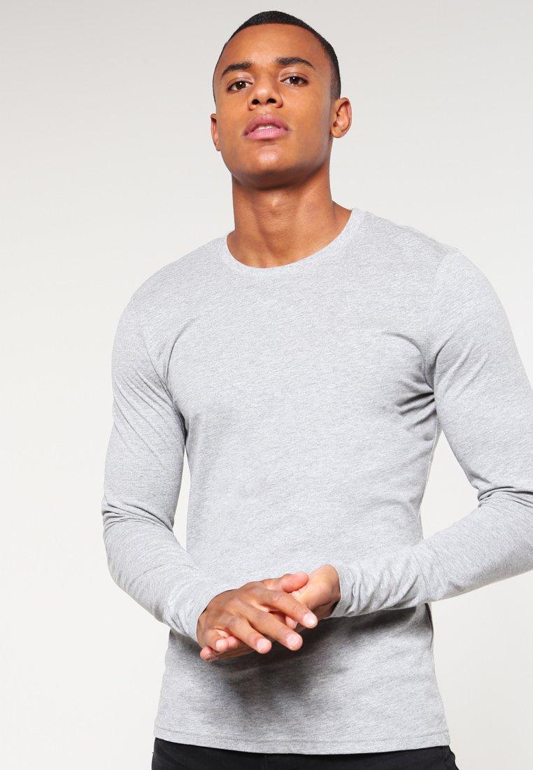 YOURTURN - Long sleeved top - mottled grey