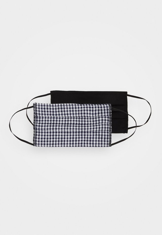 FACE COVERING 2 PACK - Community mask - gingham/black