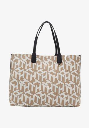 ICONIC TOTE MONOGRAM - Shopping Bag - beige