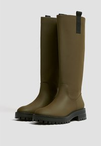 PULL&BEAR - Platform boots - khaki - 2