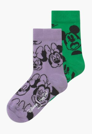 DISNEY MICKEY MOUSE & MINNIE MOUSE 2 PACK - Socks - green/purple