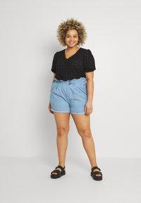 Missguided Plus - PAPERBAG WAIST - Shorts - blue - 1