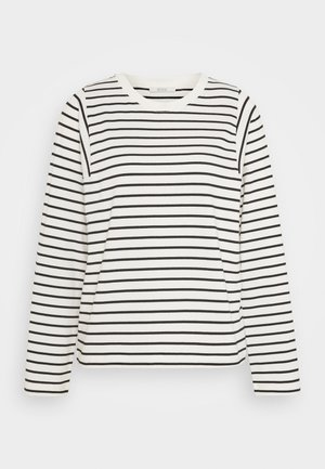 ELLY - Long sleeved top - off white/black