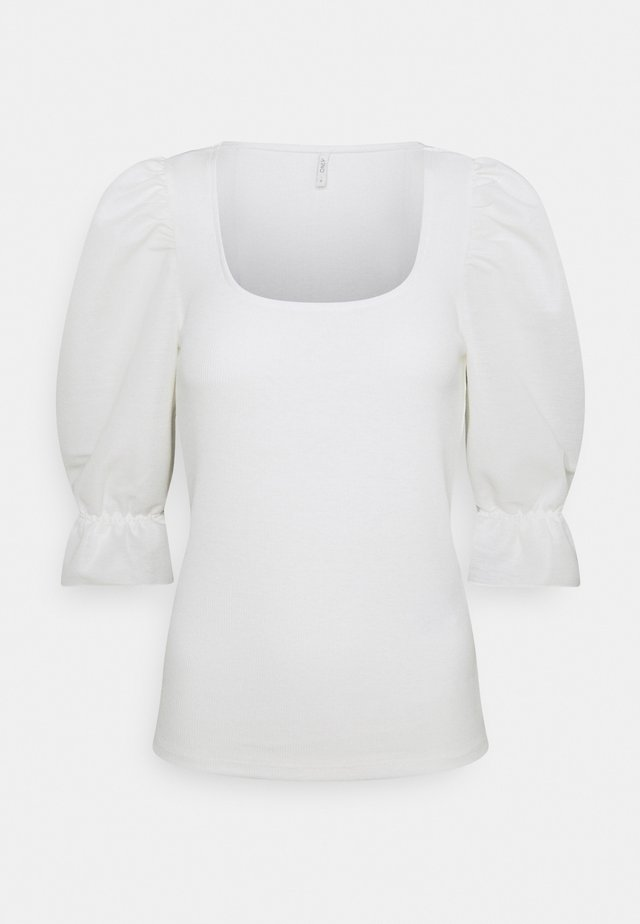 ONLMILA MIX PUFF - T-shirts med print - cloud dancer