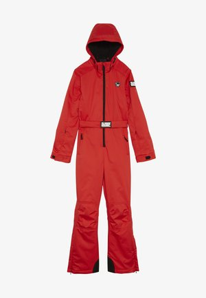 SKI SUIT PLAIN BOYS GIRLS - Talvihousut - neon red