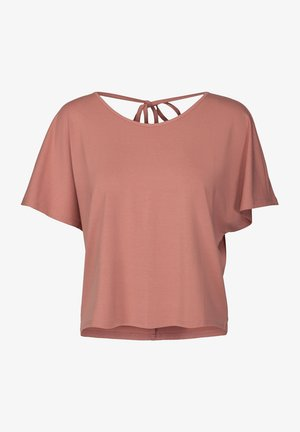 T-shirt con stampa - old rose