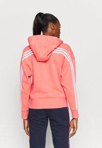 adidas Performance - Zip-up hoodie - coral - 2
