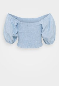 Missguided Tall - SHIRRED BARDOT - Blouse - blue - 1