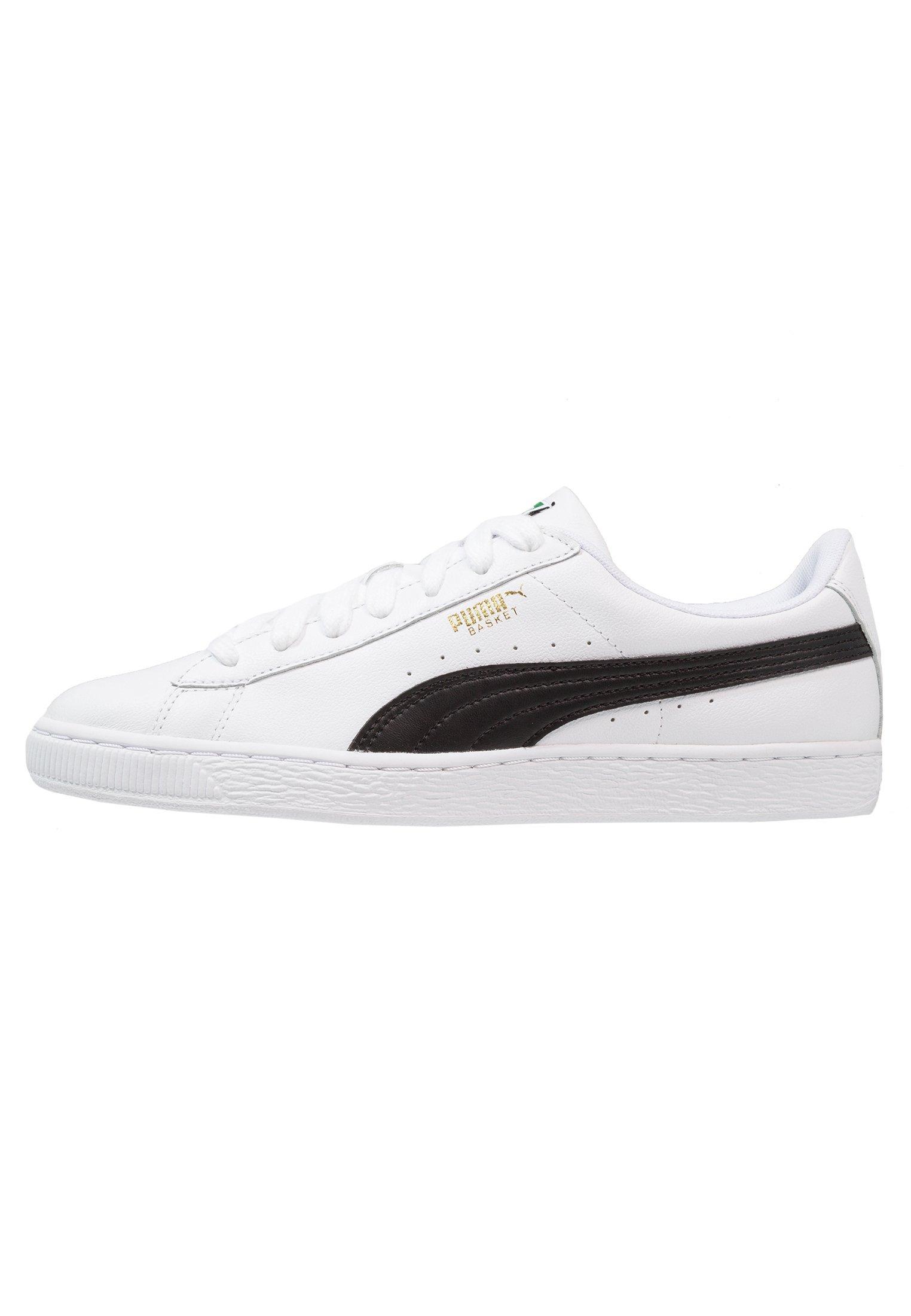 Puma BASKET CLASSIC - Baskets basses - white/black/blanc - ZALANDO.FR