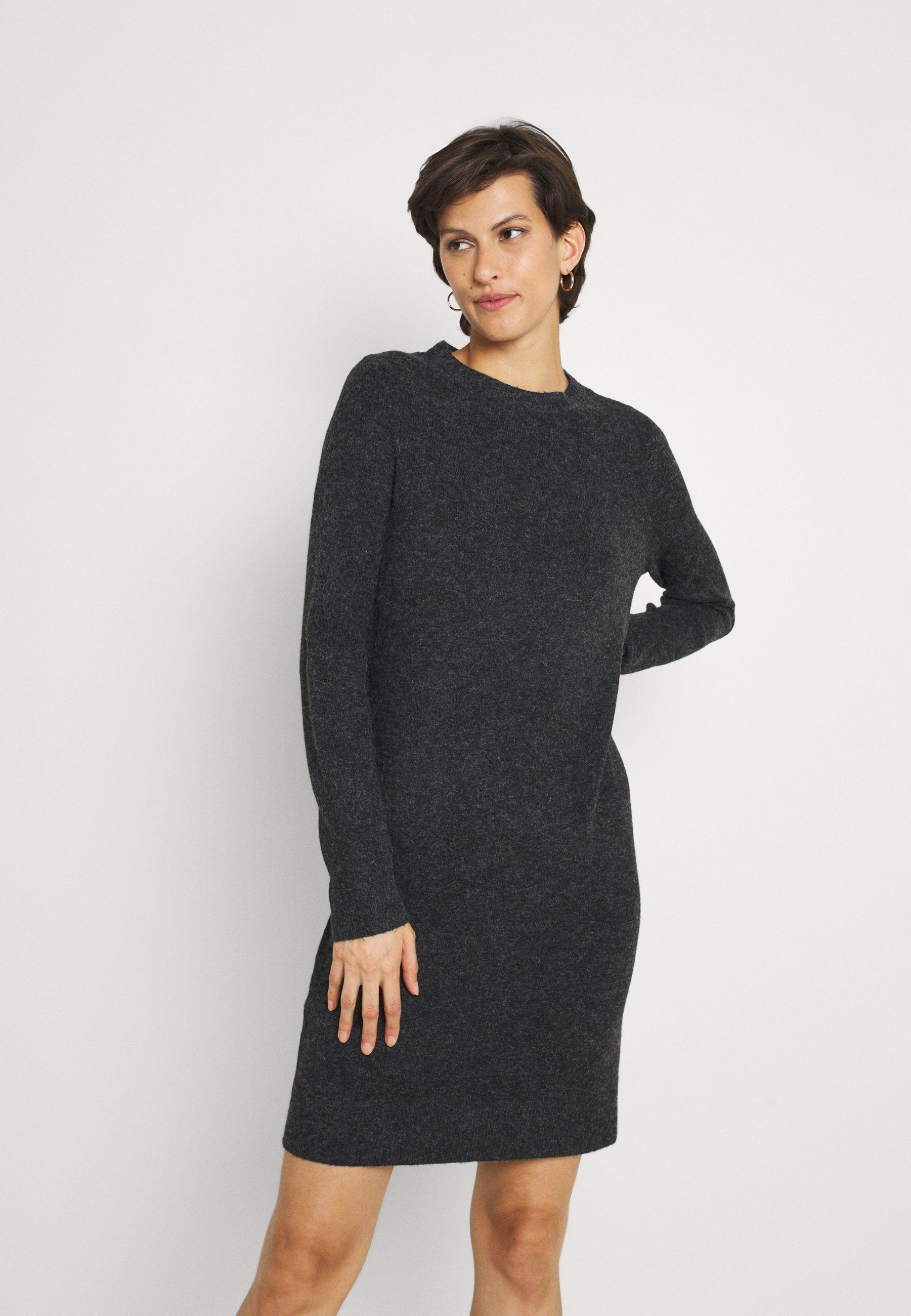 Donna VMDOFFY O NECK DRESS - Abito in maglia