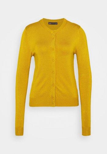 CREW CARDI PLAIN - Kardigan - yellow