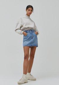 PULL&BEAR - A-line skirt - blue - 1