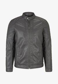 stone grey fake leather