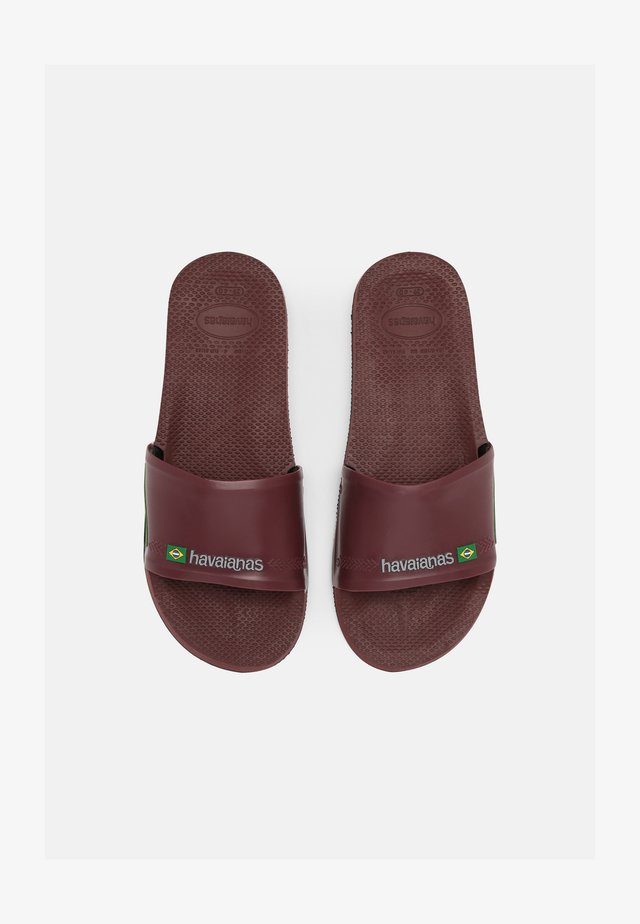 SLIDE BRASIL UNISEX - Rantasandaalit - grape wine