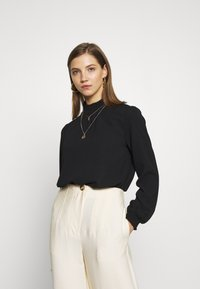 ONLY - ONLNOVA LUX  SOLID - Blouse - black - 0
