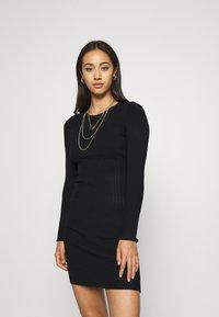 Even&Odd - JUMPER DRESS - Etuikjole - black - 0