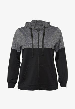 Zip-up hoodie - schwarz-grau meliert