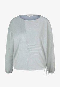 TOM TAILOR DENIM - Long sleeved top - mid blue white stripe - 5