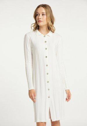 Pletené šaty - wollweiss