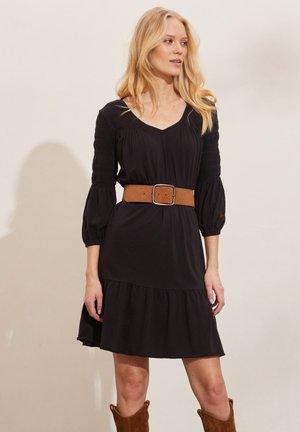 GLORIA - Jersey dress - almost black