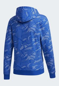 adidas Performance - ESSENTIALS ALLOVER PRINT HOODIE - Hoodie - blue - 10