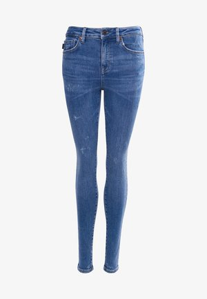 HIGH RISE - Jeans Skinny Fit - abbot mid blue vintage