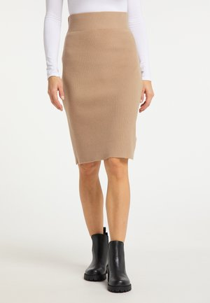 Pouzdrová sukně - dunkelbeige