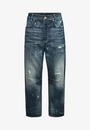 C-STAQ 3D BOYFRIEND CROP - Relaxed fit jeans - antic faded tarnish blue destroyed