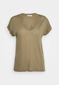 WOMENS - Basic T-shirt - green umber
