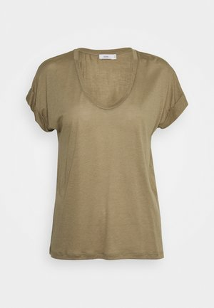 WOMEN´S - Basic T-shirt - green umber