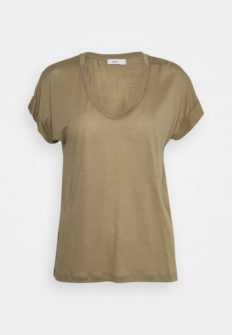 CLOSED - WOMENS - Basic T-shirt - green umber