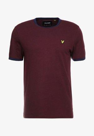 RINGER TEE - T-shirt - bas - burgundy/navy