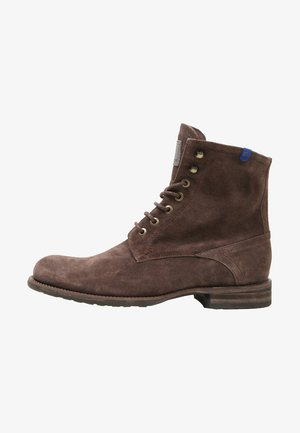 FERRI - Lace-up ankle boots - dark brown