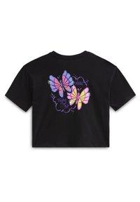 Vans - WM BT FLUTTER S/S - T-shirt med print - black - 1