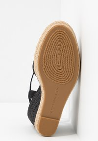 Tommy Hilfiger - BASIC CLOSED TOE HIGH WEDGE - High heeled sandals - black - 6