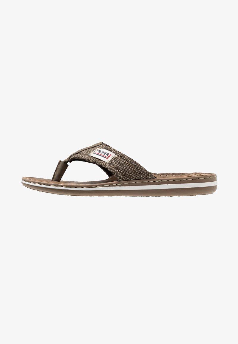 Rieker - T-bar sandals - brasil/fango