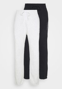 RELAXED 2 PACK - Tracksuit bottoms - black/grey