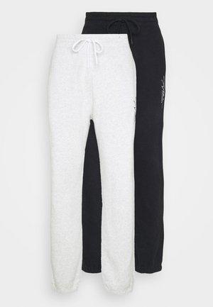 RELAXED 2 PACK - Pantalon de survêtement - black/grey