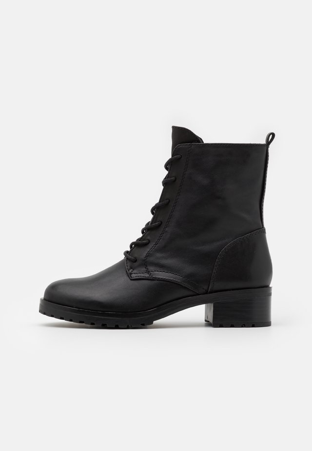 LEGENIA - Lace-up ankle boots - black